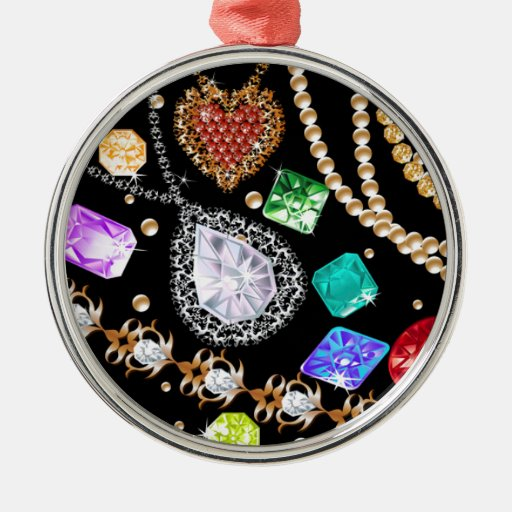 Dazzling gems christmas tree ornaments