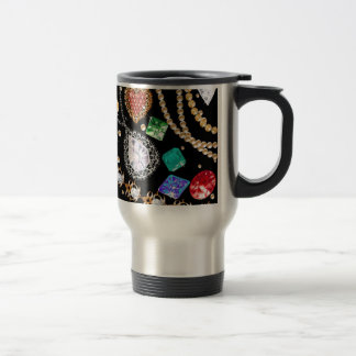 Dazzling gems travel mug