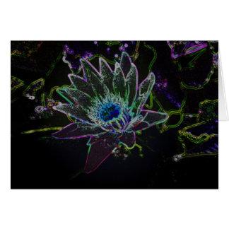 Dazzling Glow Lotus Card