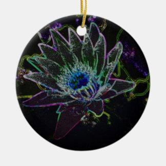Dazzling Glow Lotus Ceramic Ornament