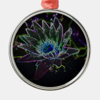 Dazzling Glow Lotus Metal Ornament