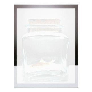 Dazzling Goldfish in jar Letterhead