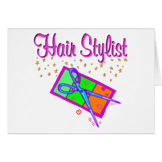 DAZZLING HAIR STYLIST AND BEAUTICIAN CARD