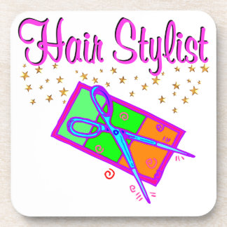 DAZZLING HAIR STYLIST AND BEAUTICIAN DRINK COASTER