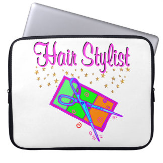 DAZZLING HAIR STYLIST AND BEAUTICIAN LAPTOP SLEEVE