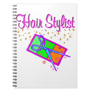 DAZZLING HAIR STYLIST AND BEAUTICIAN SPIRAL NOTEBOOK