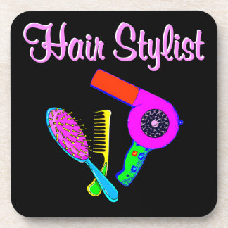DAZZLING HAIR STYLIST TEES AND GIFTS DRINK COASTER