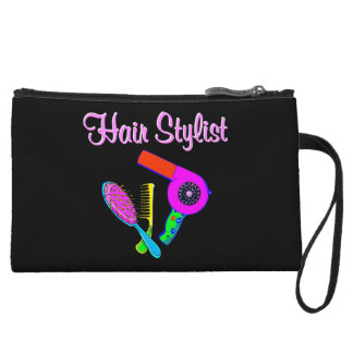 DAZZLING HAIR STYLIST TEES AND GIFTS WRISTLET WALLET