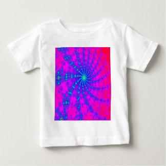 Dazzling Hot Pink & Blue Swirl Fractal Design Baby T-Shirt