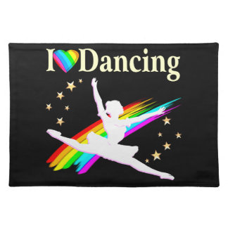 DAZZLING I LOVE DANCING BALLERINA DESIGN CLOTH PLACE MAT