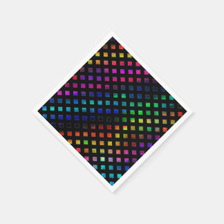 Dazzling Multi Colored Diamonds Napkin