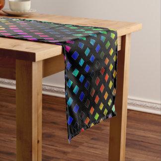 Dazzling Multi Colored Diamonds Short Table Runner