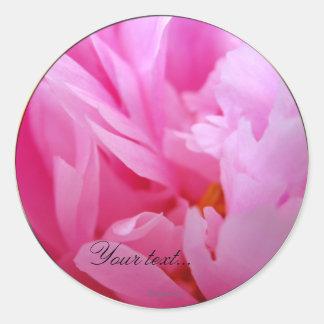 Dazzling Pink Peony Wedding Flowers Custom Seals