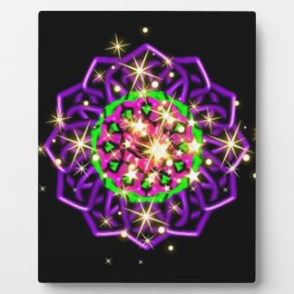 Dazzling Purple Kaleidoscope Swirls Plaque