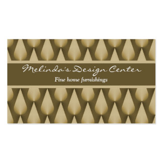 Dazzling Raindrops Business Card, Chocolate Brown Business Card