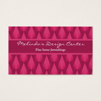 Dazzling Raindrops Business Card, Magenta Business Card