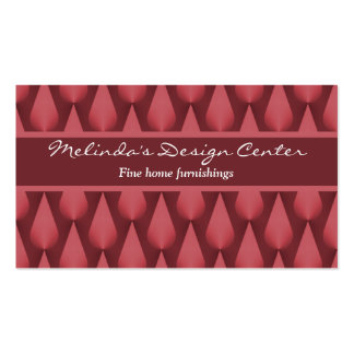 Dazzling Raindrops Business Card, Maroon Business Card