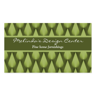 Dazzling Raindrops Business Card, Olive Green Business Card