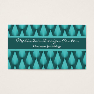 Dazzling Raindrops Business Card, Vibrant Teal Business Card