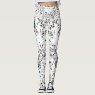 Dazzling Silver Jewl Print Leggings