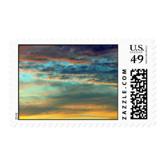 Dazzling Sky Colors Postage Stamp