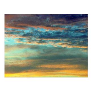 Dazzling Sky Colors Postcard