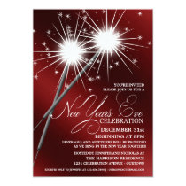 Dazzling Sparklers New Years Eve Party Invitations