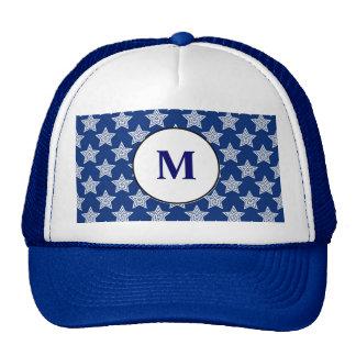 Dazzling stars on blue hat