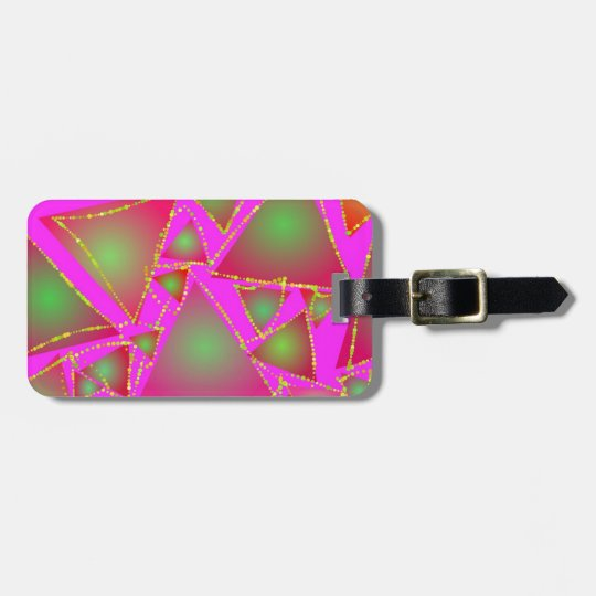 Dazzling Triangles Luggage Tag