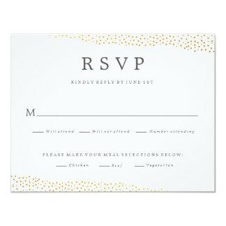 Dazzling wedding faux foil response rsvp card