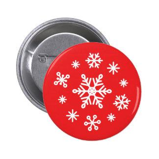 Dazzling Winter Snowflakes 2 Inch Round Button