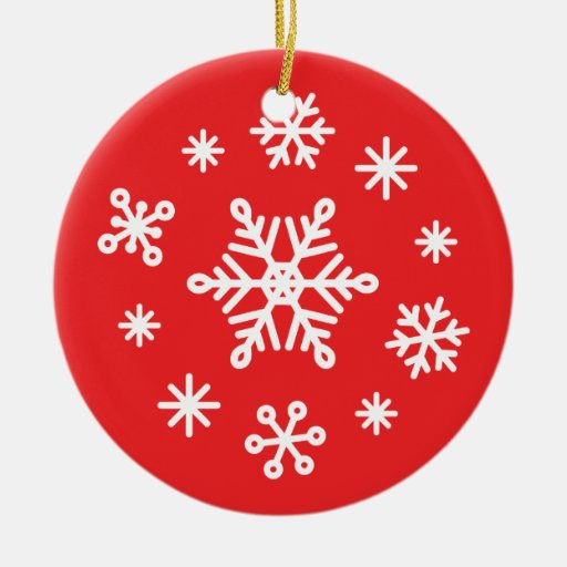 Dazzling Winter Snowflakes Ornament