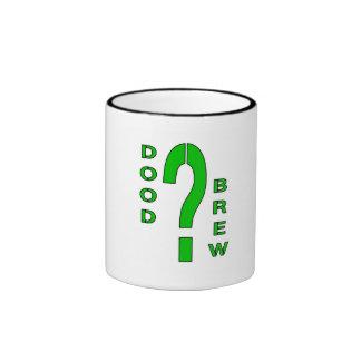 DB07-Question Mark - Green/Black - Ringer Mug