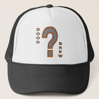 DB07-Question Mark - Orange/Grey - Trucker Hat
