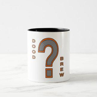 DB07-Question Mark - Orange/Grey - Two Tone Mug