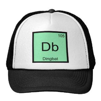DB - Camiseta divertida del símbolo del elemento d Gorras