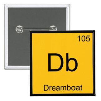 DB - Camiseta divertida del símbolo del elemento d Pin Cuadrado