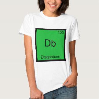 DB - Camiseta divertida del símbolo del elemento Polera