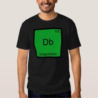 DB - Camiseta divertida del símbolo del elemento Remera