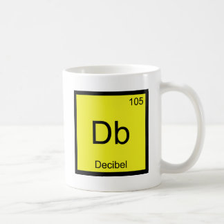 Db - Decibel Chemistry Element Symbol Noise Tee Classic White Coffee Mug