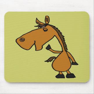 DB dibujo animado divertido Mousepad del caballo