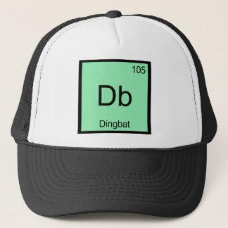Db - Dingbat Chemistry Element Symbol Funny Tee Trucker Hat