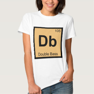 Db - Double Bass Chemistry Periodic Table Symbol T Shirt