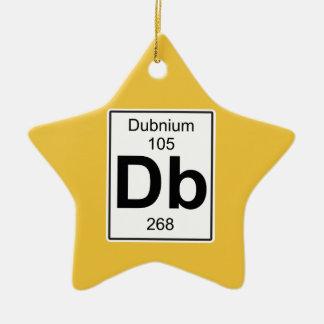 DB - Dubnium Adorno Navideño De Cerámica En Forma De Estrella