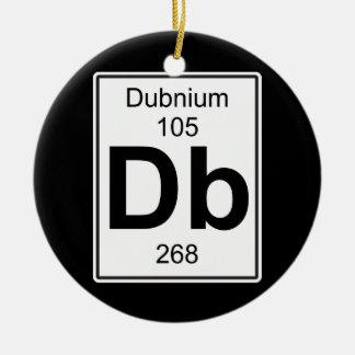 DB - Dubnium Adorno Navideño Redondo De Cerámica