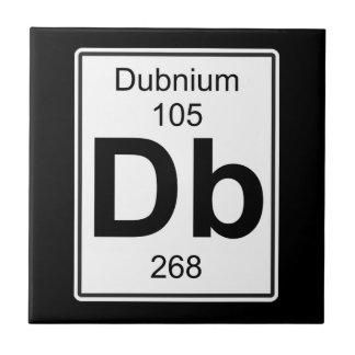 DB - Dubnium Azulejo Cuadrado Pequeño