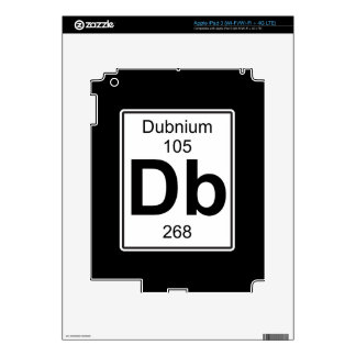 Db - Dubnium Decals For iPad 3