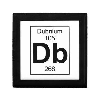 DB - Dubnium Joyero Cuadrado Pequeño