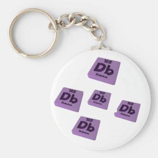 DB Dubnium Llavero Redondo Tipo Pin