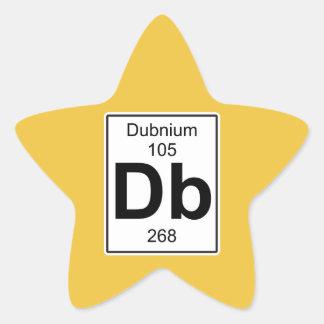 DB - Dubnium Pegatina En Forma De Estrella